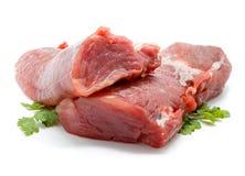 Pezzi di filetto di carne di maiale crudo fresco Immagine Stock Libera da Diritti