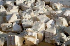 Pezzi di formaggio di gorgonzola fotografia stock libera da diritti