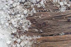 Pezzi di ghiaccio rotto Immagini Stock Libere da Diritti