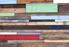 Pezzi di legno colorati Fotografie Stock Libere da Diritti