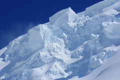 Pezzi di neve Fotografia Stock