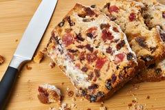 Pezzi di plum-cake immagine stock