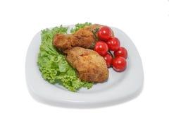 Pezzi di pollo. immagine stock