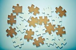 Pezzi di puzzle Fotografie Stock