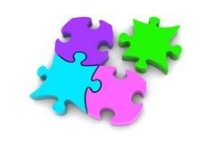 Pezzi di puzzle Immagine Stock Libera da Diritti