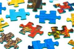 Pezzi di puzzle Immagini Stock Libere da Diritti