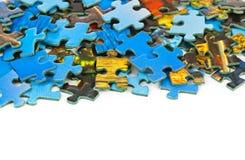 Pezzi di puzzle Fotografia Stock