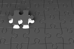 Pezzi di puzzle con indicatore luminoso Fotografia Stock Libera da Diritti