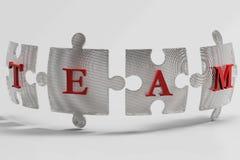 Pezzi di puzzle del gruppo della maglia metallica Immagine Stock