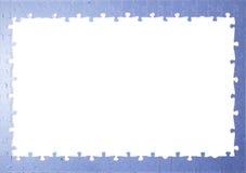 Pezzi di puzzle della pagina Immagini Stock