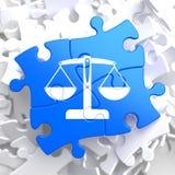 Pezzi di puzzle: Giustizia Concept. Fotografie Stock