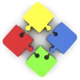Pezzi di puzzle in vari colori Fotografia Stock Libera da Diritti