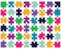 pezzi di puzzle variopinto Fotografia Stock
