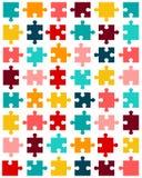 pezzi di puzzle variopinto Immagini Stock Libere da Diritti