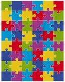 pezzi di puzzle variopinto Fotografie Stock Libere da Diritti