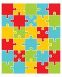 pezzi di puzzle variopinto Immagine Stock