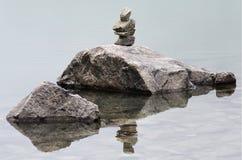 Pezzi di rocce impilate Immagine Stock Libera da Diritti