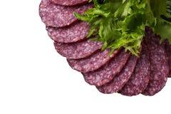Pezzi di salsiccia Immagine Stock