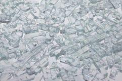 Pezzi di vetro rotto Fotografie Stock Libere da Diritti