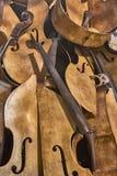 Pezzi di violini Fotografie Stock