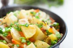 Pezzi dorati di patate fritte Fotografia Stock Libera da Diritti
