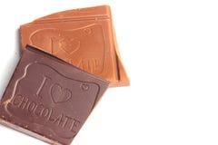 Pezzi favoriti di cioccolato Immagine Stock