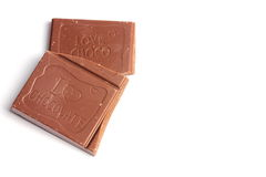 Pezzi favoriti di cioccolato Fotografie Stock