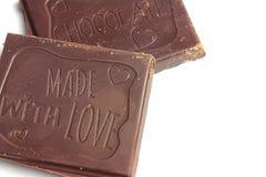 Pezzi favoriti di cioccolato Immagini Stock Libere da Diritti