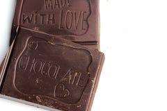 Pezzi favoriti di cioccolato Fotografie Stock Libere da Diritti