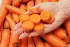 Pezzi freschi della carota Fotografia Stock Libera da Diritti