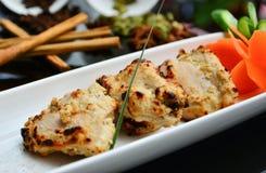 Pezzi indiani del pollo Fotografie Stock Libere da Diritti