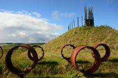 Pezzi meccanici decorativi - rigenerazione di precedente sito a cielo aperto Fotografie Stock