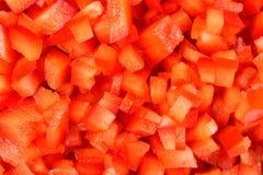 Pezzi rossi del capsico Fotografia Stock