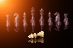 Pezzo degli scacchi di re giù Fotografia Stock Libera da Diritti