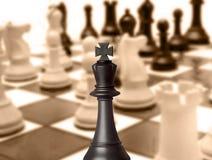 Pezzo degli scacchi nero di re Immagini Stock