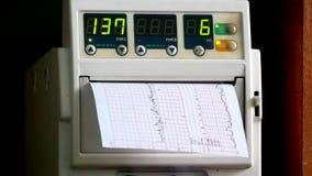 Pezzo del cuore dell'attrezzatura medica stock footage