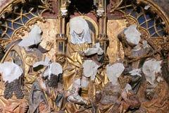 Pezzo dell'altare in Dom Church Utrecht The Netherlands fotografia stock
