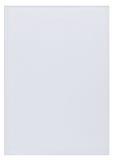 Pezzo di carta in bianco bianca Fotografia Stock