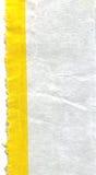 Pezzo di carta con la riga gialla Fotografie Stock Libere da Diritti