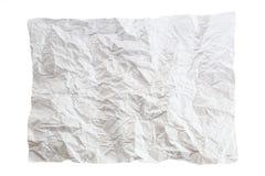 Pezzo di carta sgualcito immagine stock