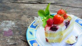 Pezzo di dolce delizioso Fotografia Stock