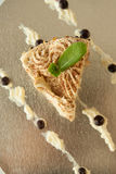 Pezzo di dolce della vaniglia Immagine Stock