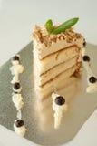 Pezzo di dolce della vaniglia Fotografie Stock Libere da Diritti