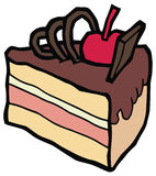 Pezzo di dolce di cioccolato delizioso illustrazione di stock