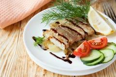 Pezzo di filetti di pesce fritti fotografia stock
