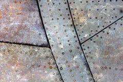 Pezzo di fondo del metallo di lerciume degli aerei Immagini Stock
