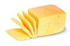Pezzo di formaggio affettato Immagini Stock