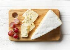Pezzo di formaggio del brie Immagine Stock