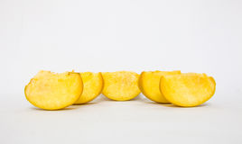 pezzo di frutta del cachi Fotografie Stock Libere da Diritti