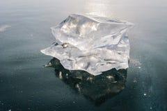 Pezzo di ghiaccio Fotografie Stock Libere da Diritti